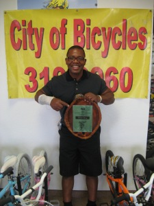 Turnell Henry with his 1981 #1 cruiser award