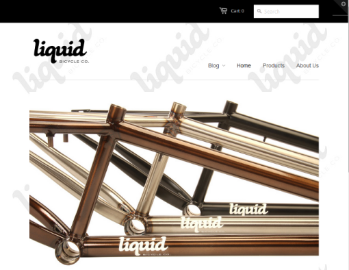 Liquid Bikes website