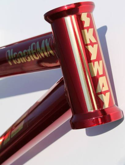 Candy Chrome Skyway headtube