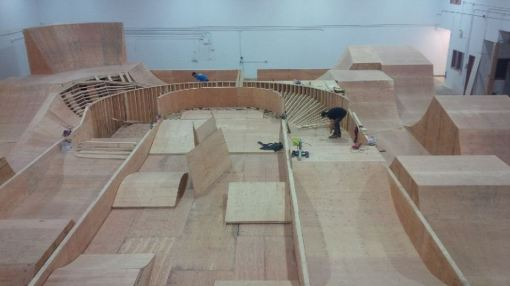 Epic Indoor Bike Park jump room