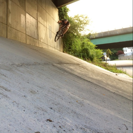 Chris Piascik tuck on 26in Trail Boss