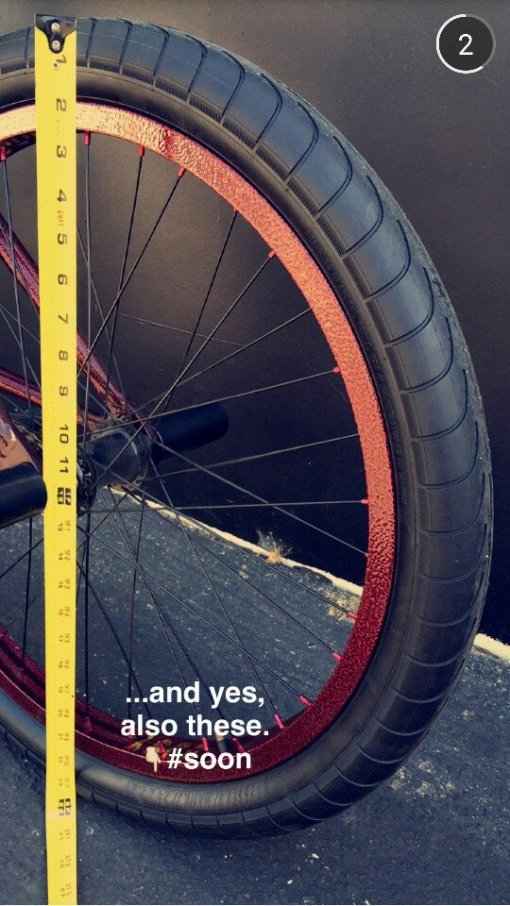 24 inch Chase Hawk tires snapchat