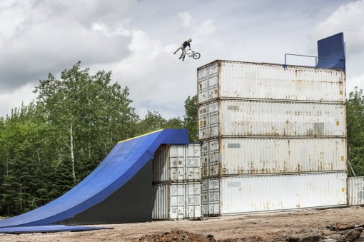 Drew Bezansen performs a huge 360 Tail Whip during Red Bull Uncontainable in Truro, Canada on August 5th, 2015.