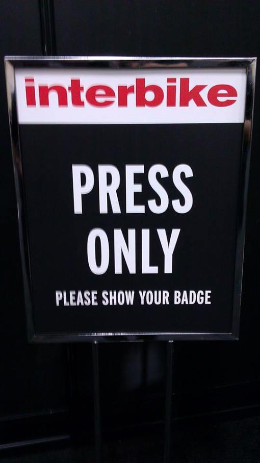 Interbike Press sign