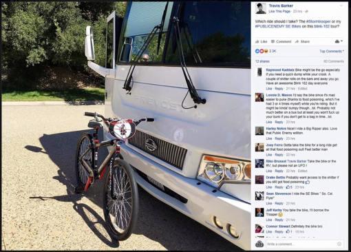 Travis Barker cruiser tour